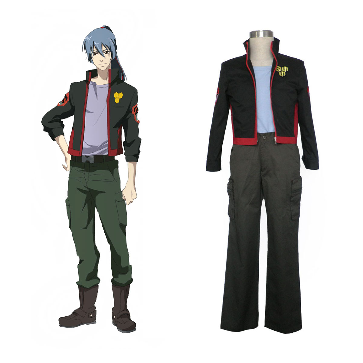 Macross F Ozma Lee 1 SMS Team Cosplay Costumes AU