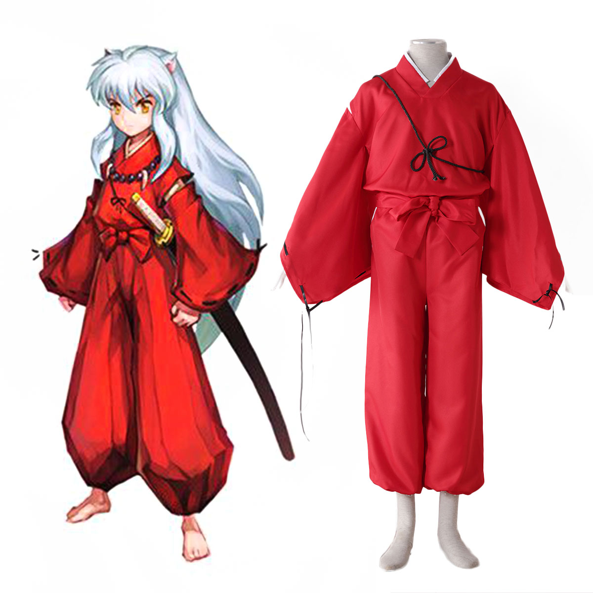 Inuyasha 2 Red Cosplay Costumes AU