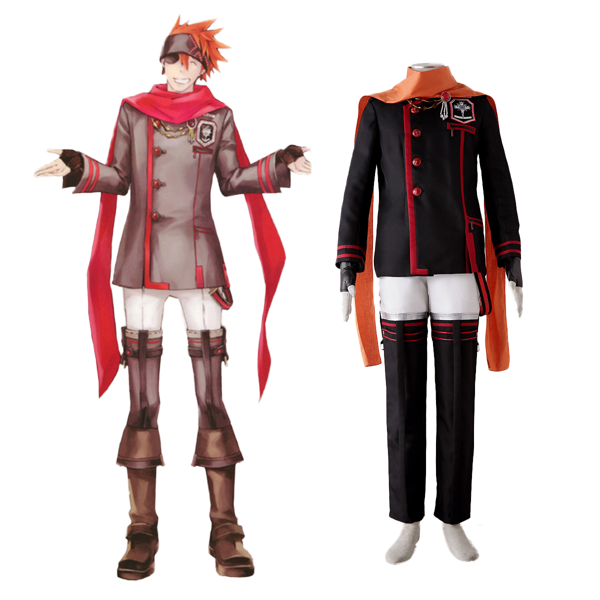 D.Gray-man Lavi 3 Cosplay Costumes AU