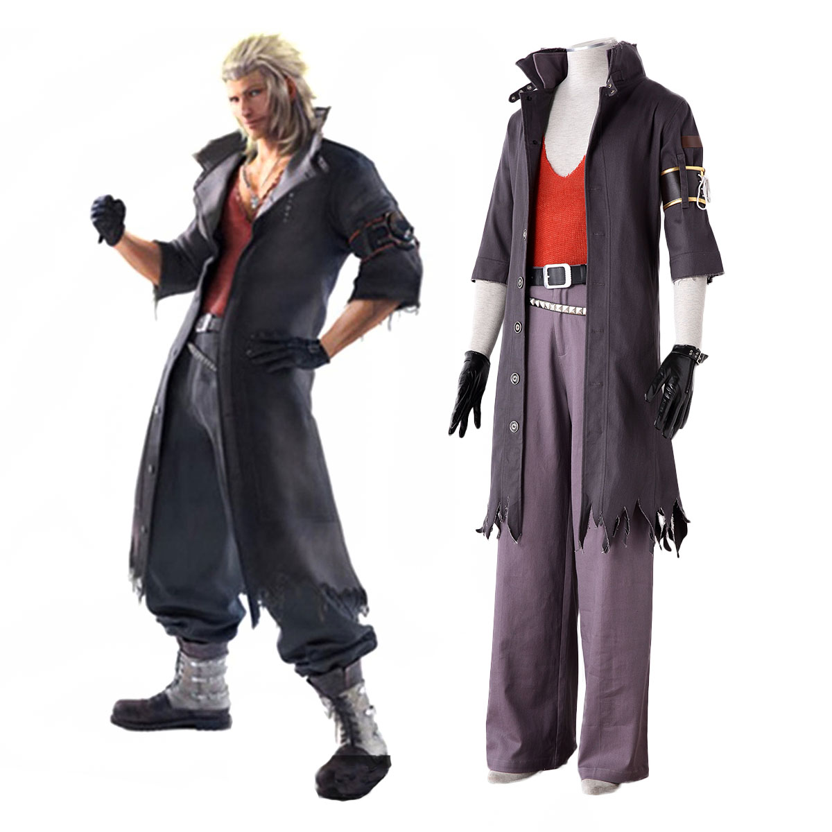 Final Fantasy 13-2 Snow Villiers 2 Cosplay Costumes AU