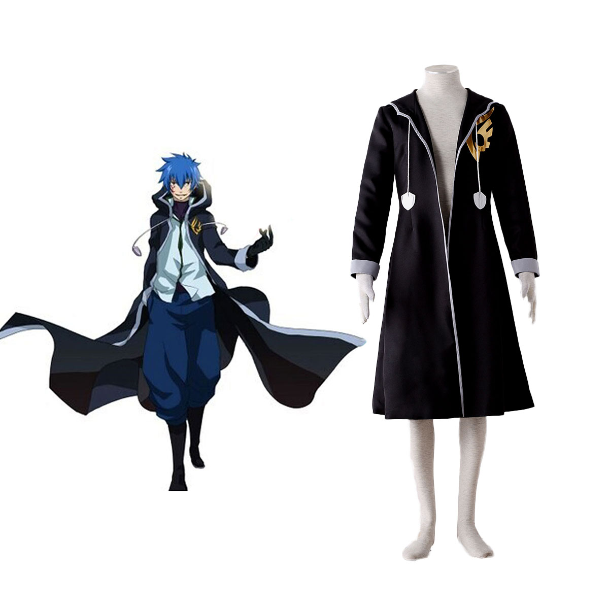 Fairy Tail Jellal Fernandes 1 Cosplay Costumes AU