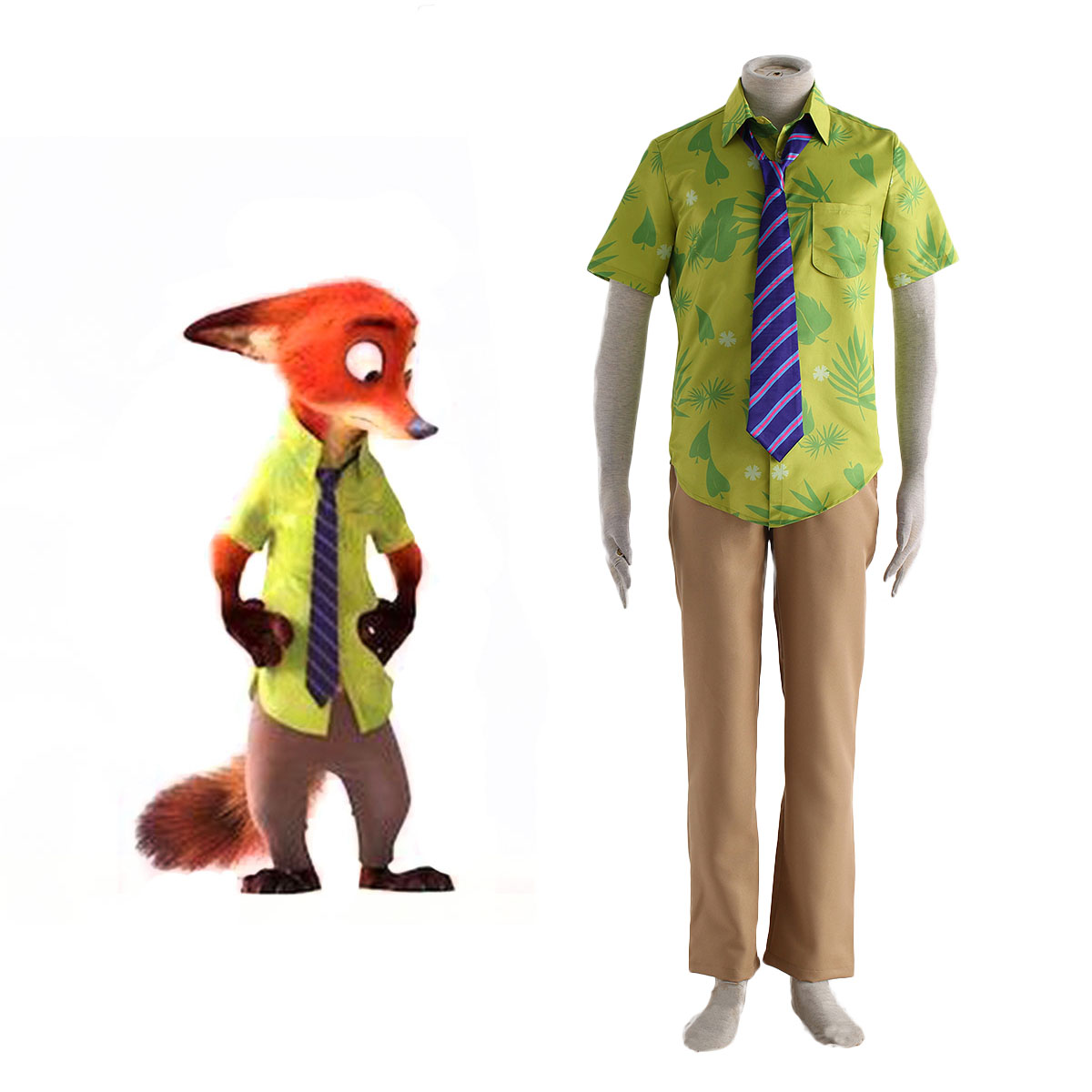 Zootopia Nick Normal Cosplay Costumes AU