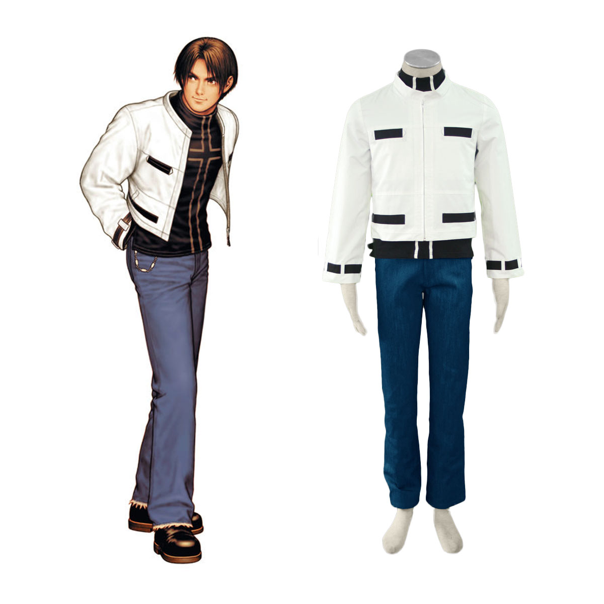 The King Of Fighters Kyo Kusanagi Cosplay Costumes AU