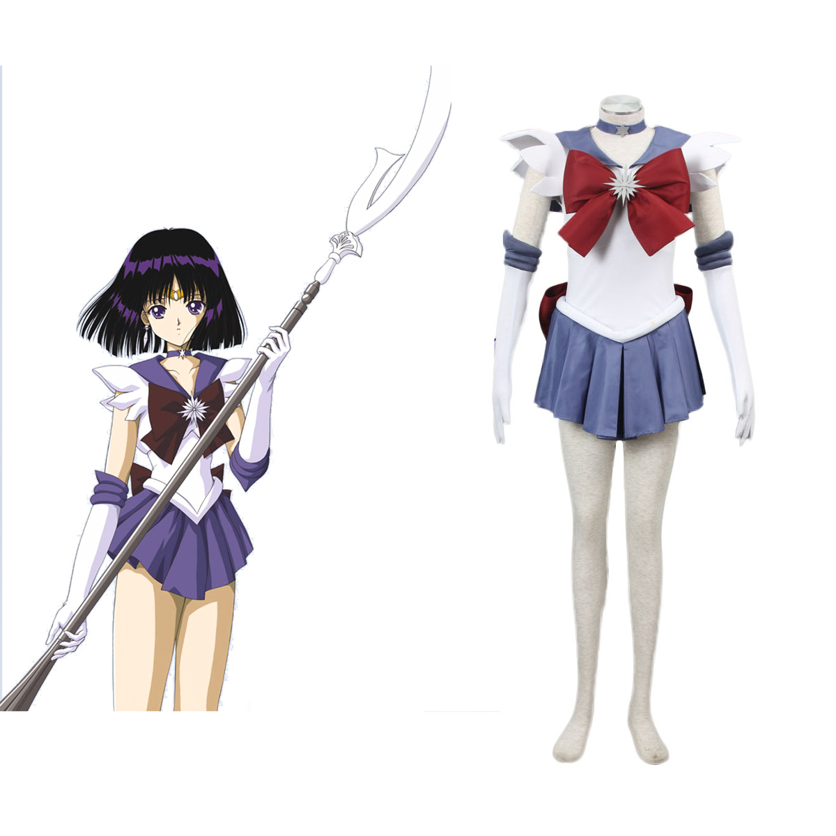 Sailor Moon Hotaru Tomoe 1 Cosplay Costumes AU