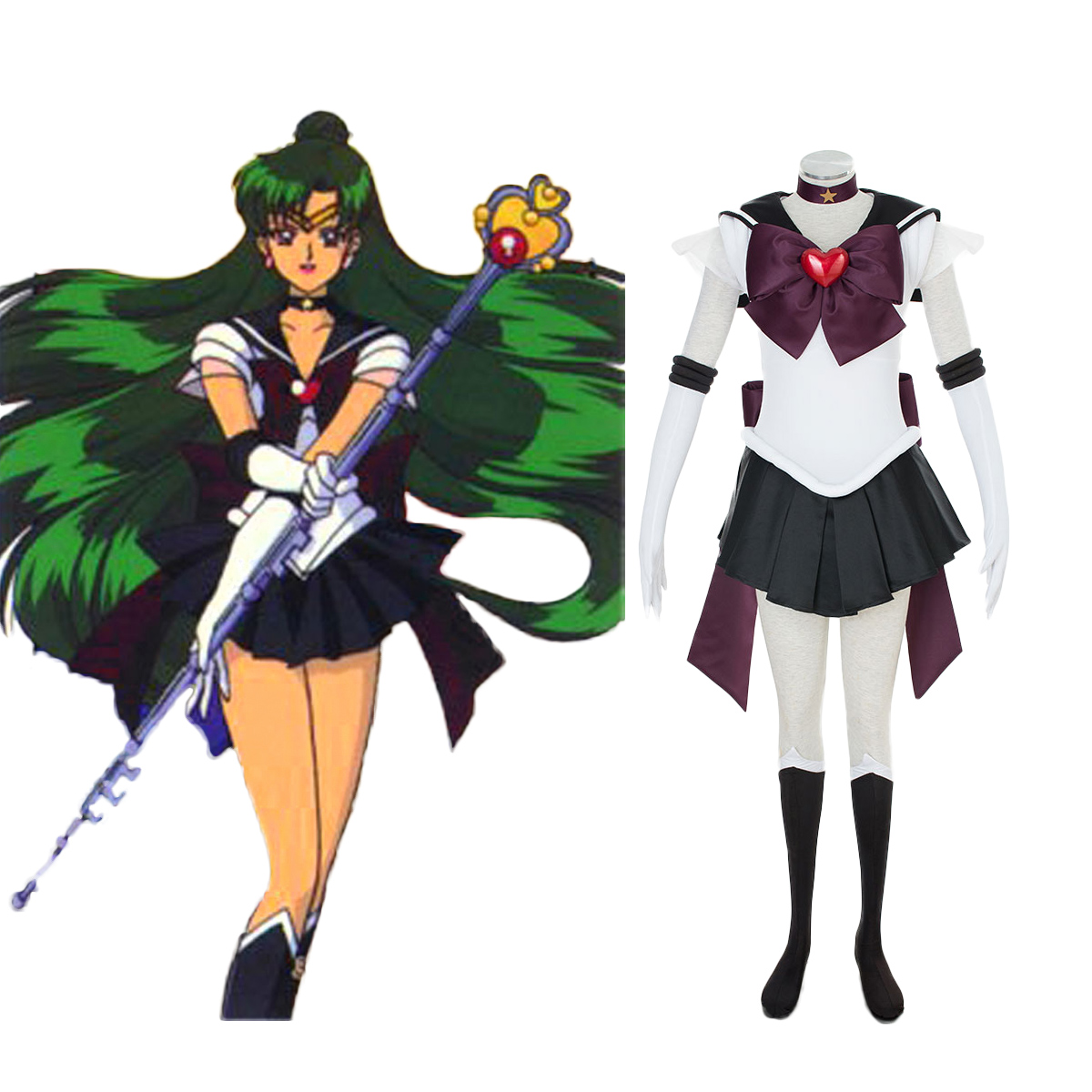 Sailor Moon Meiou Setsuna 3 Cosplay Costumes AU