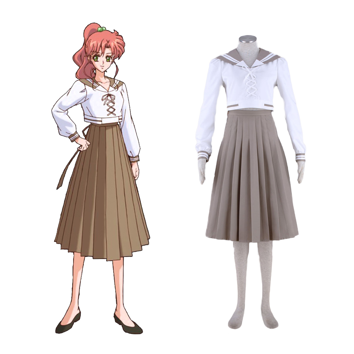 Sailor Moon Kino Makoto 4 Cosplay Costumes AU