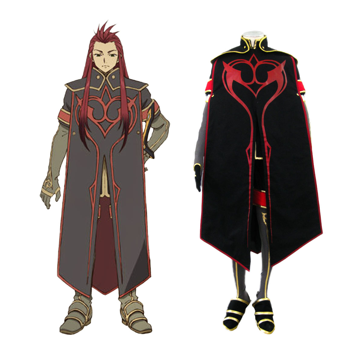 Tales of the Abyss Asch 1 Cosplay Costumes AU