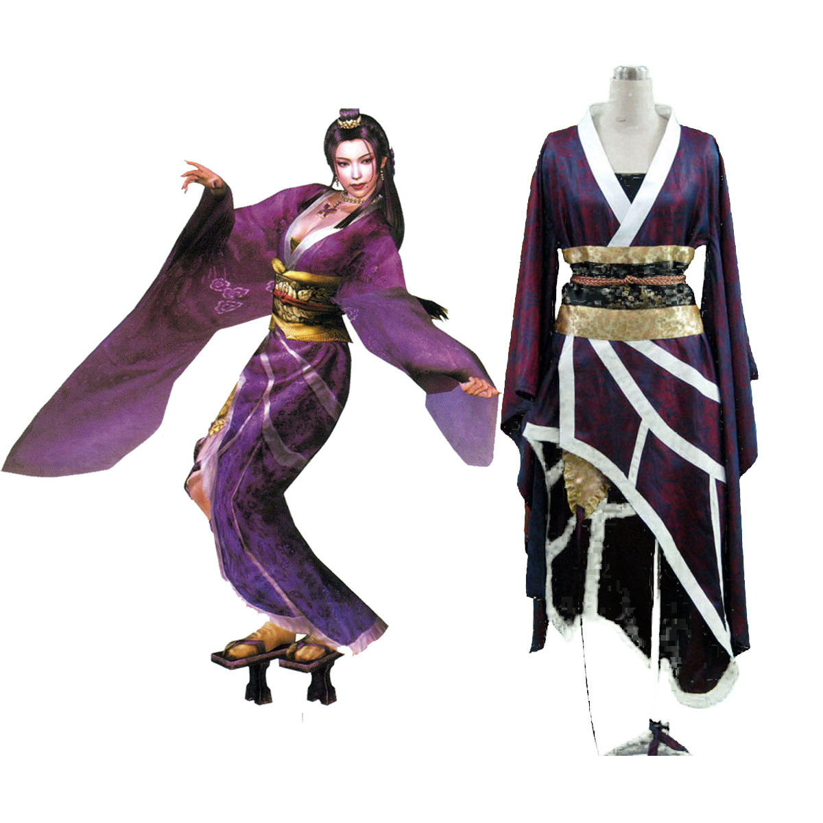 Samurai Warriors Nouhime 1 Cosplay Costumes AU
