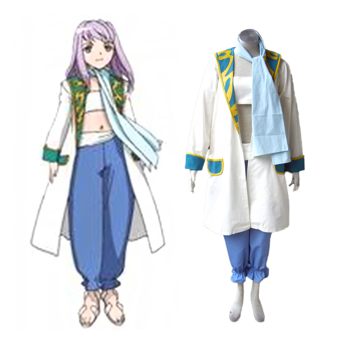 My-Otome Mashiro Blan de Windbloom Cosplay Costumes AU