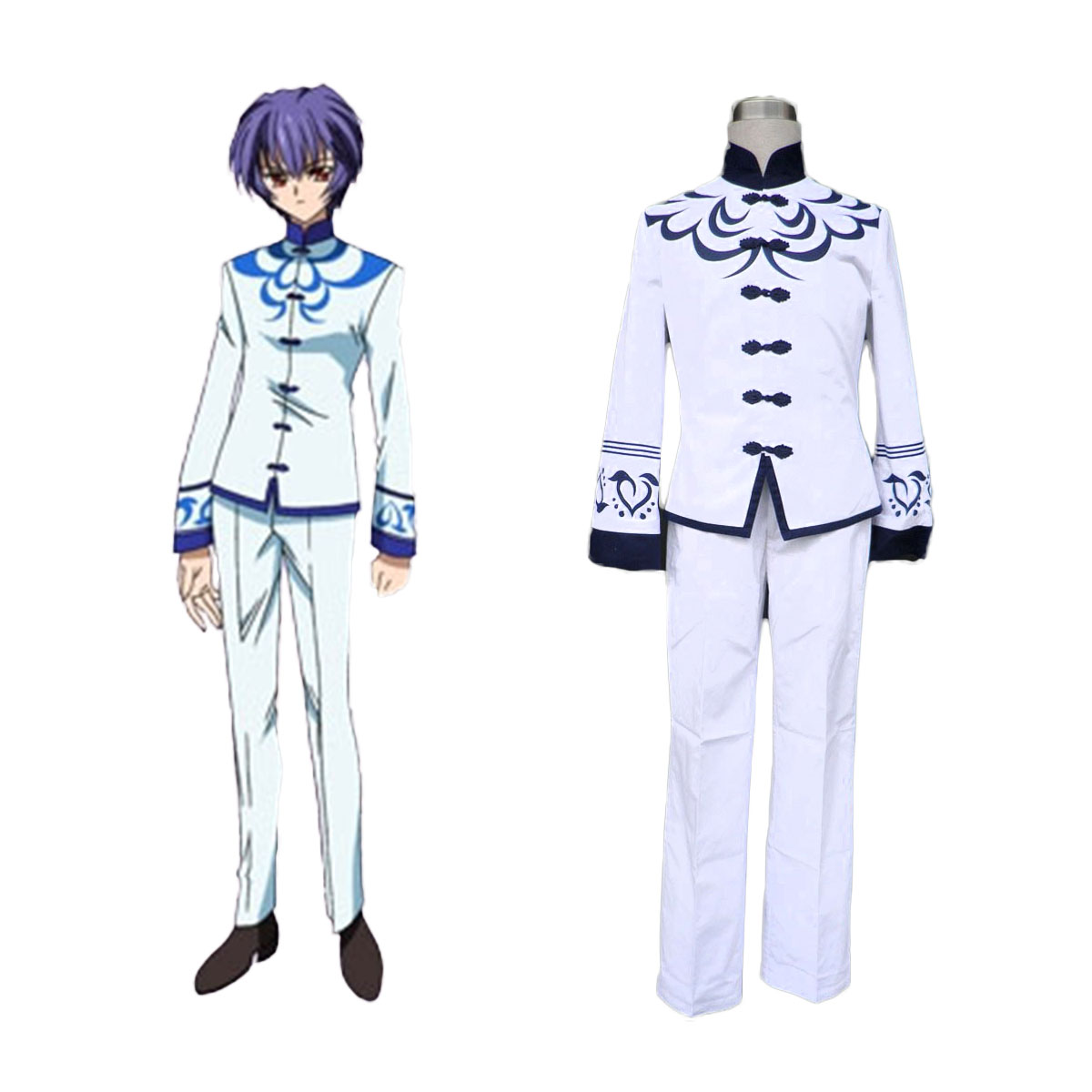 Touka Gettan Male School Uniform Cosplay Costumes AU
