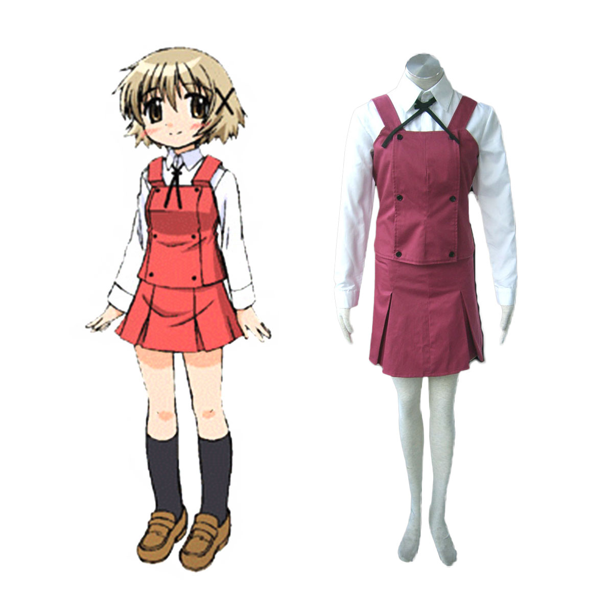 Hidamari Sketch Female School Uniform Cosplay Costumes AU
