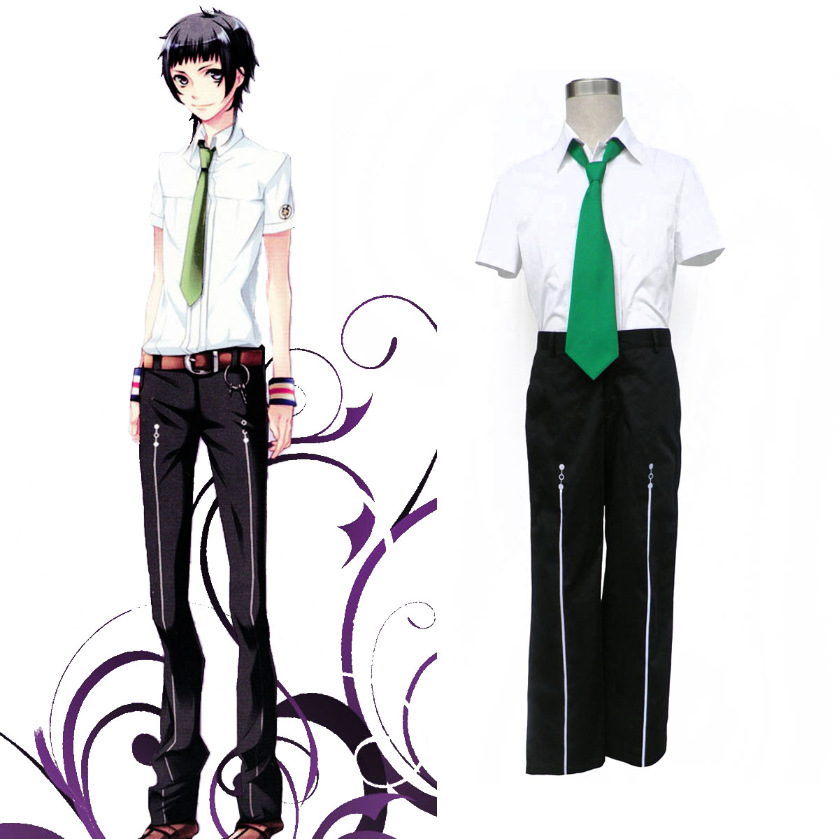 Starry Sky Male Summer School Uniform 2 Cosplay Costumes AU