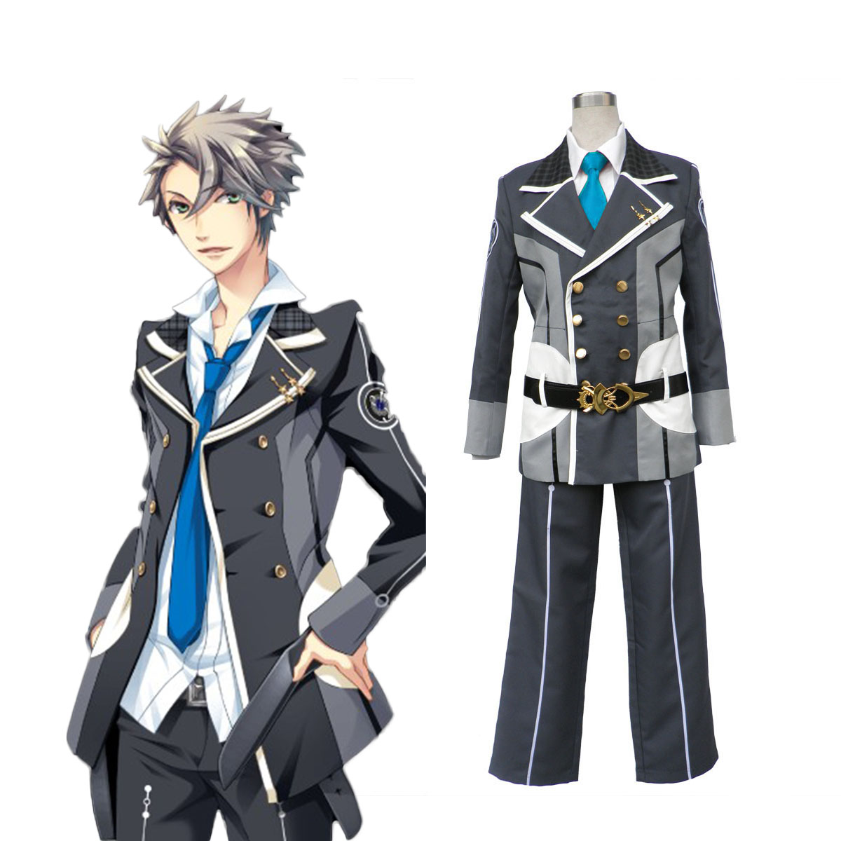 Starry Sky Male Winter School Uniform 3 Cosplay Costumes AU
