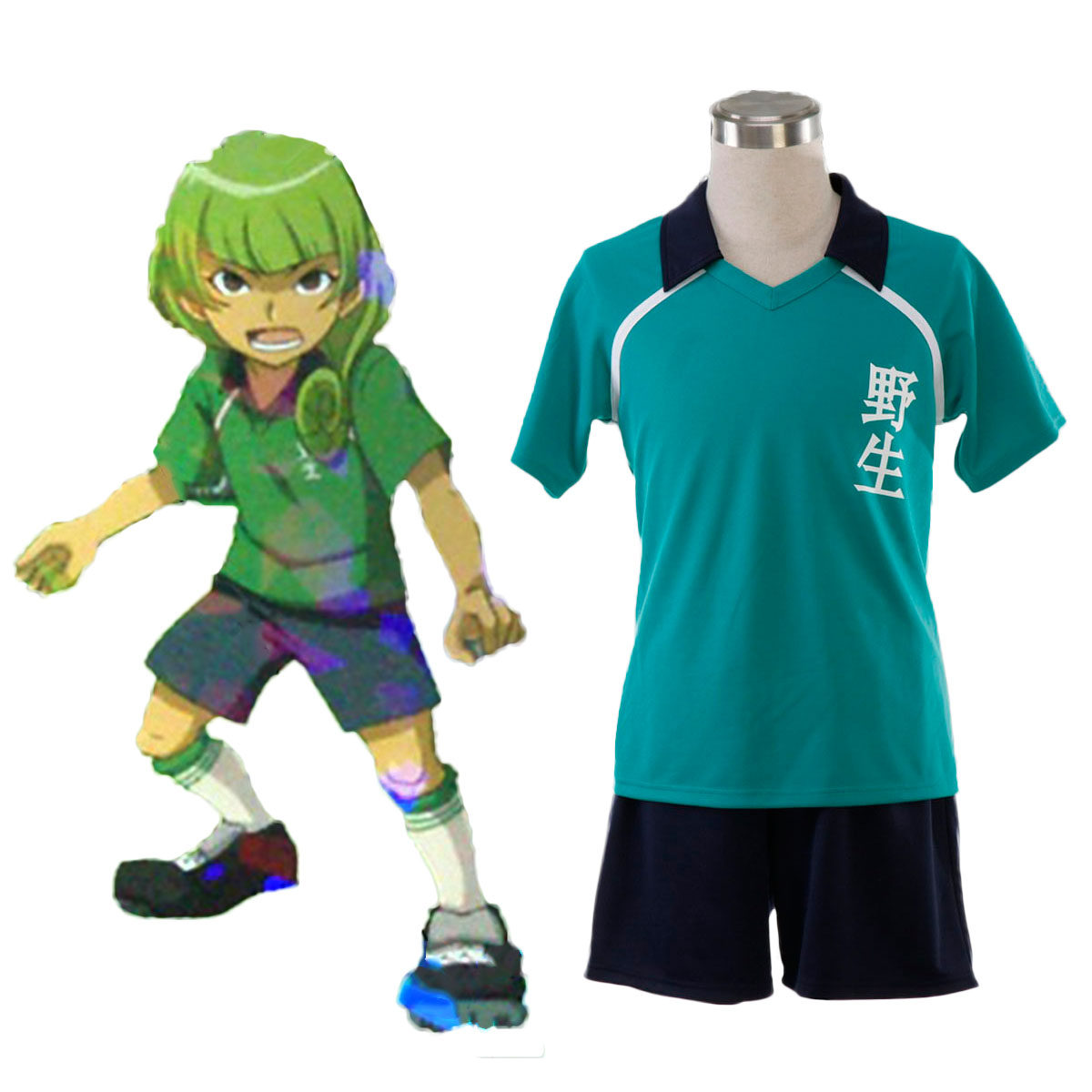 Inazuma Eleven Nosei Summer Soccer Jersey 1 Cosplay Costumes AU