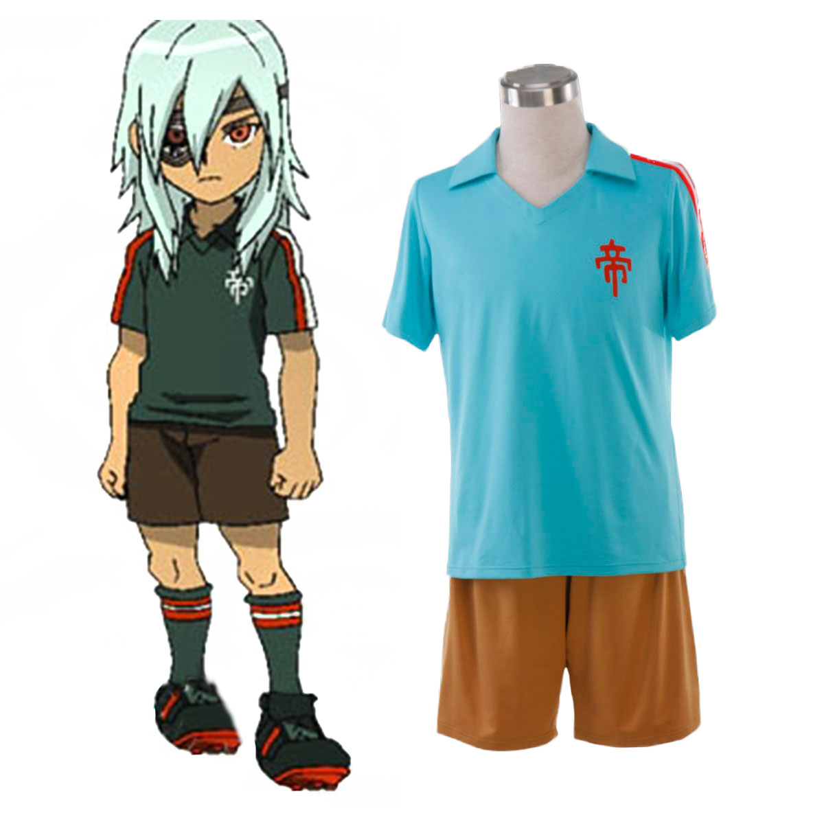 Inazuma Eleven Teikoku Summer Soccer Jersey 1 Cosplay Costumes AU