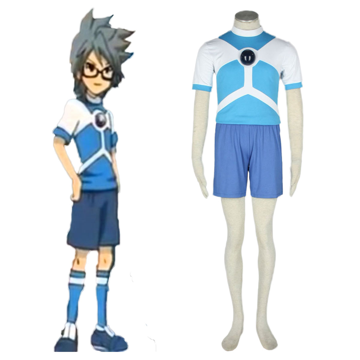 Inazuma Eleven Alien Soccer Jersey Cosplay Costumes AU