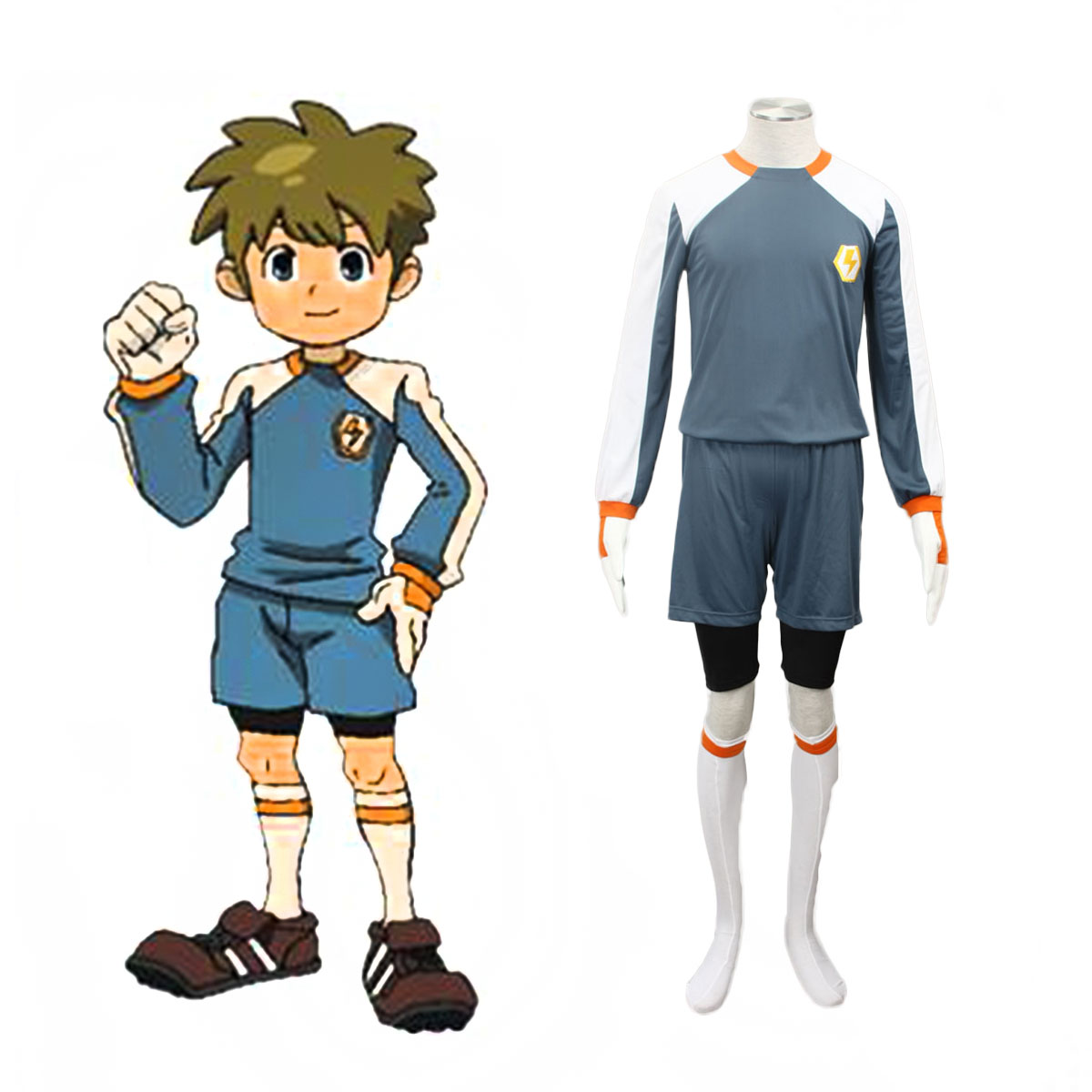 Inazuma Eleven Raimon Goalkeeper Soccer Jersey 2 Cosplay Costumes AU