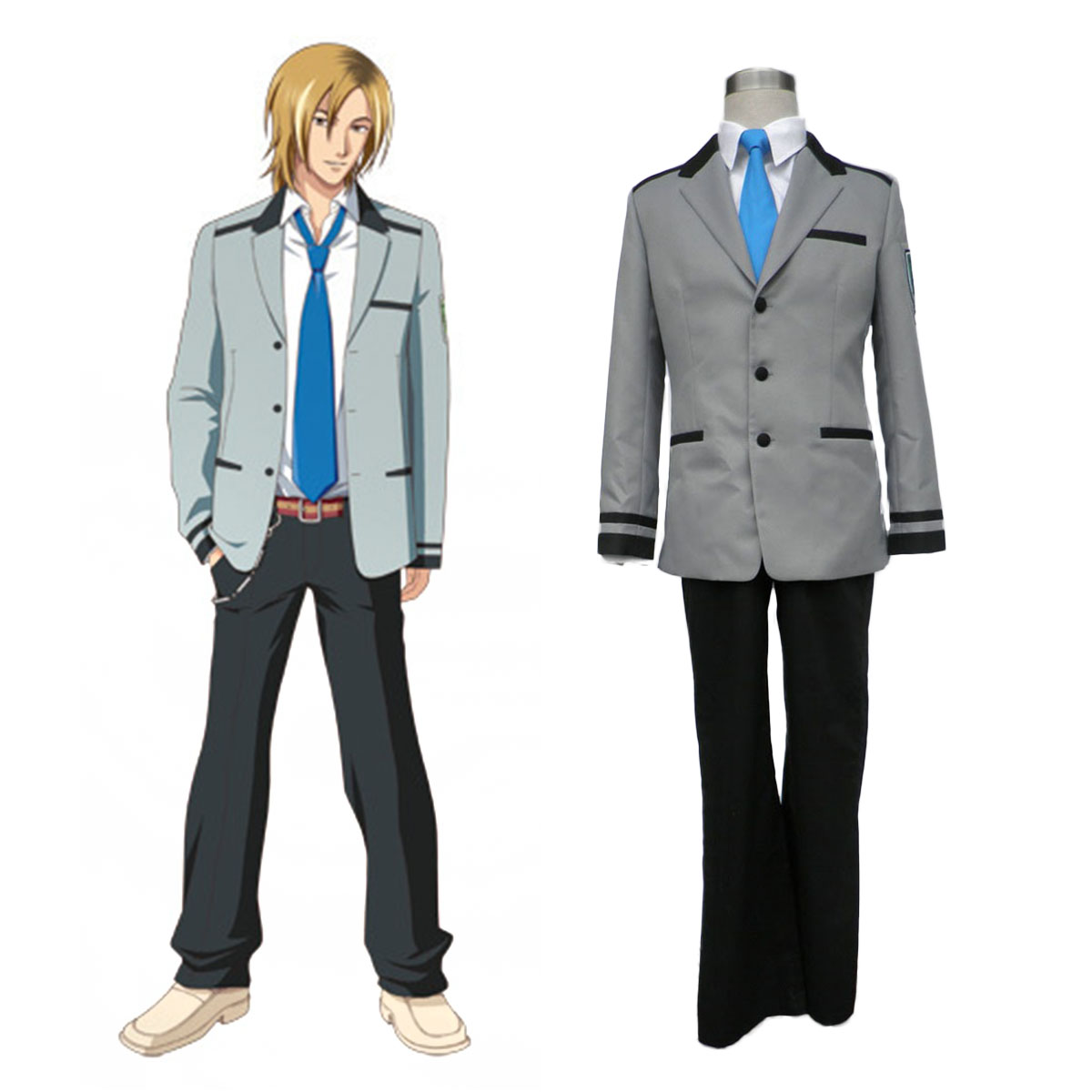Tokimeki Memorial Girl's Side Male School Uniform Cosplay Costumes AU