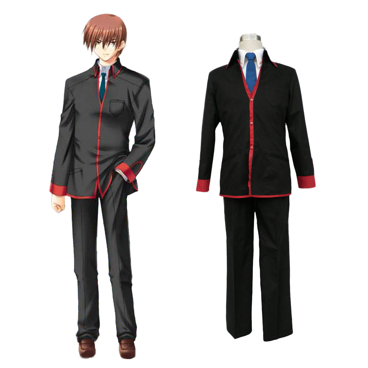 Little Busters Male School Uniform Cosplay Costumes AU