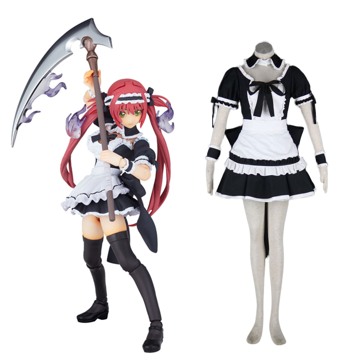 Queen's Blade Airi Maid Cosplay Costumes AU