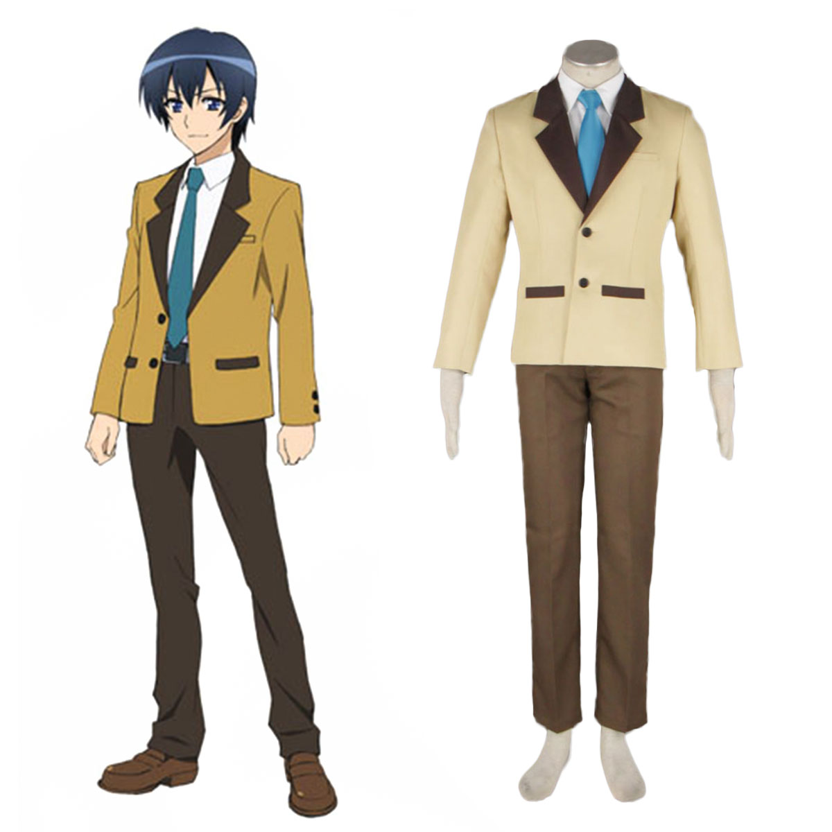 MM! Male Winter School Uniform Cosplay Costumes AU