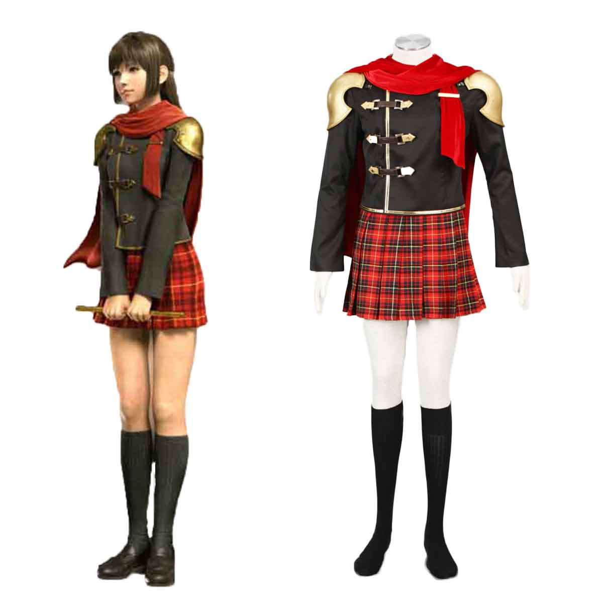 Final Fantasy Type-0 Deuce 1 Cosplay Costumes AU