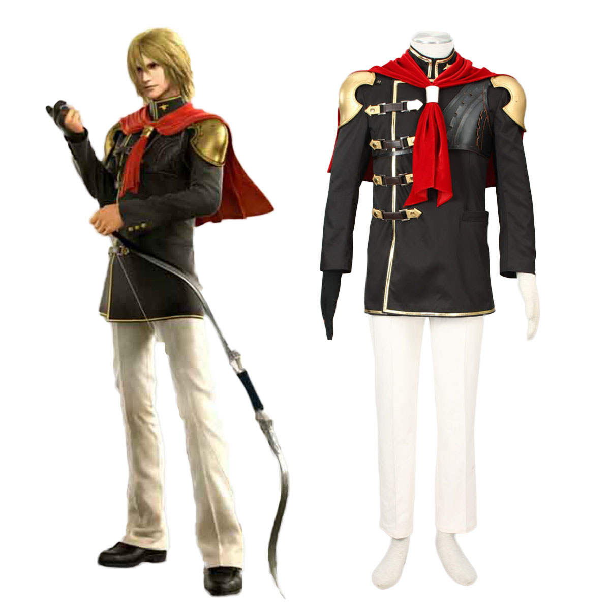Final Fantasy Type-0 Trey 1 Cosplay Costumes AU