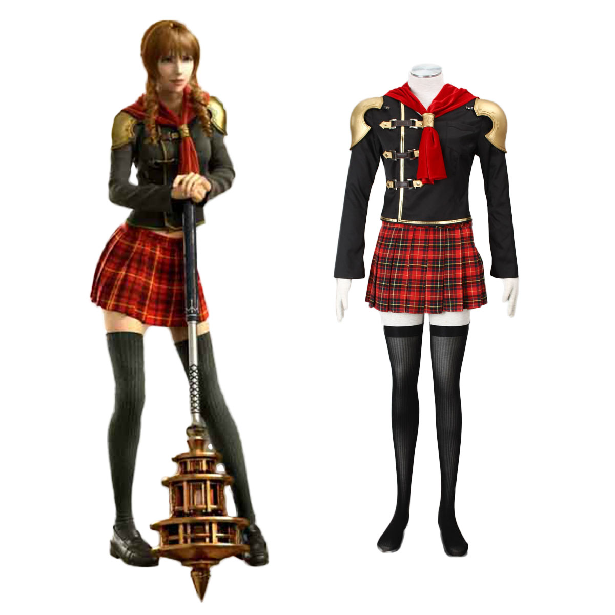 Final Fantasy Type-0 Cinque 1 Cosplay Costumes AU