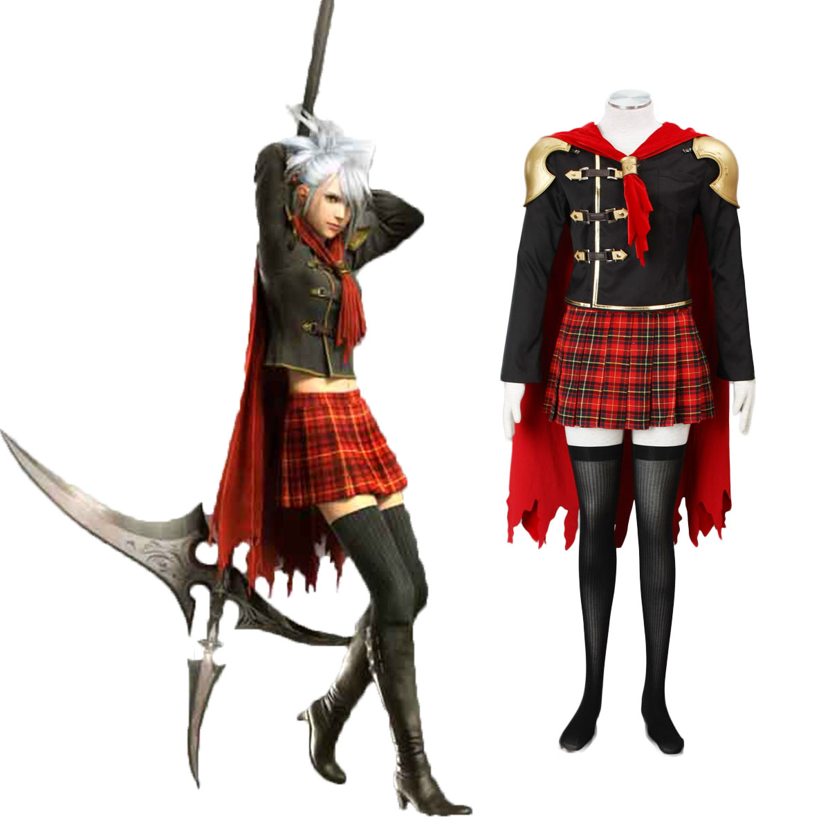 Final Fantasy Type-0 Sice 1 Cosplay Costumes AU