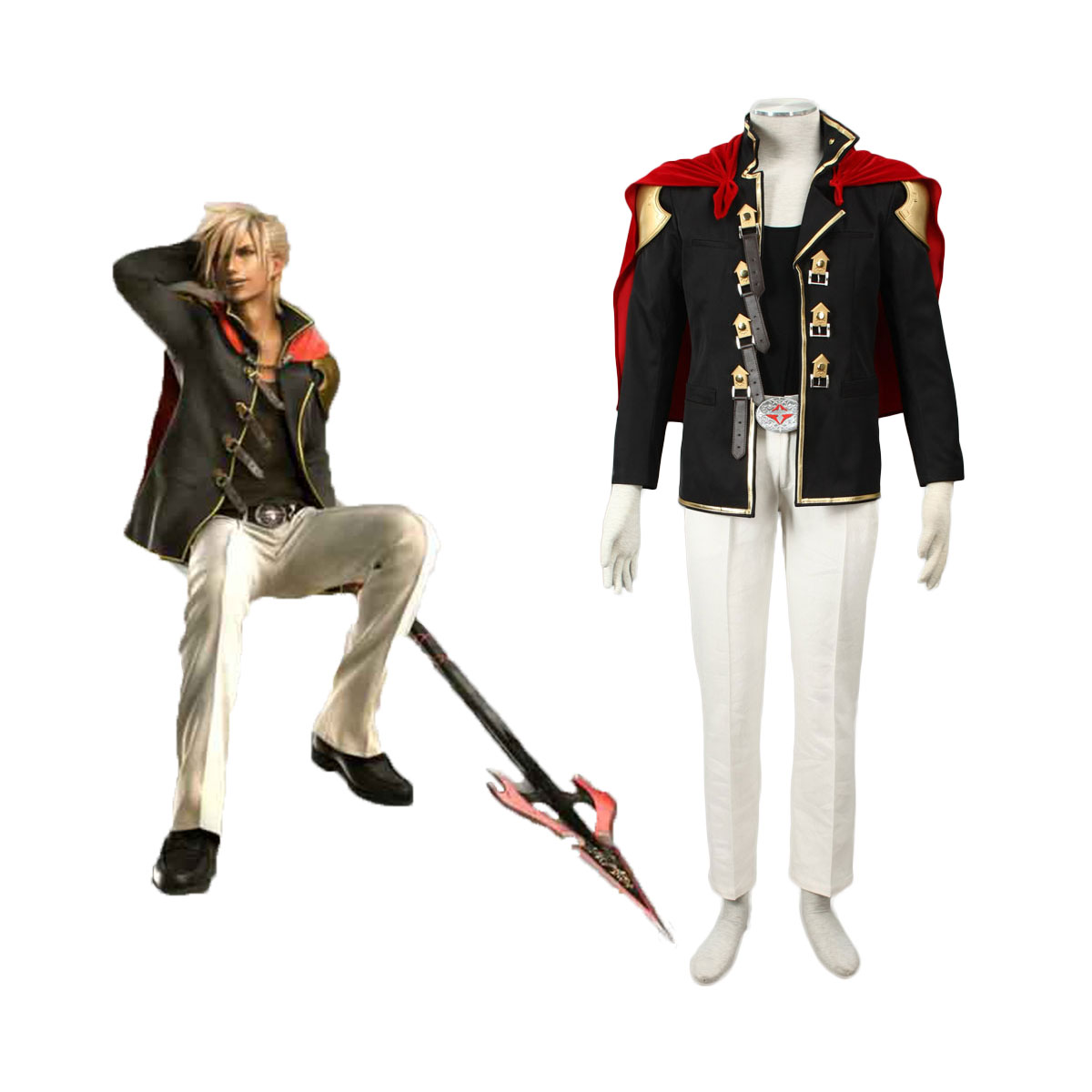 Final Fantasy Type-0 Nine 1 Cosplay Costumes AU
