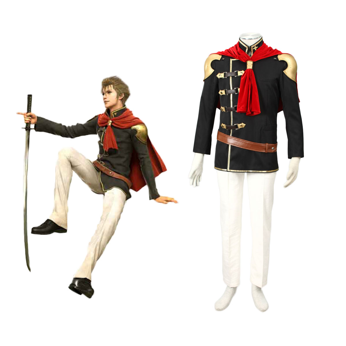 Final Fantasy Type-0 Jack 1 Cosplay Costumes AU
