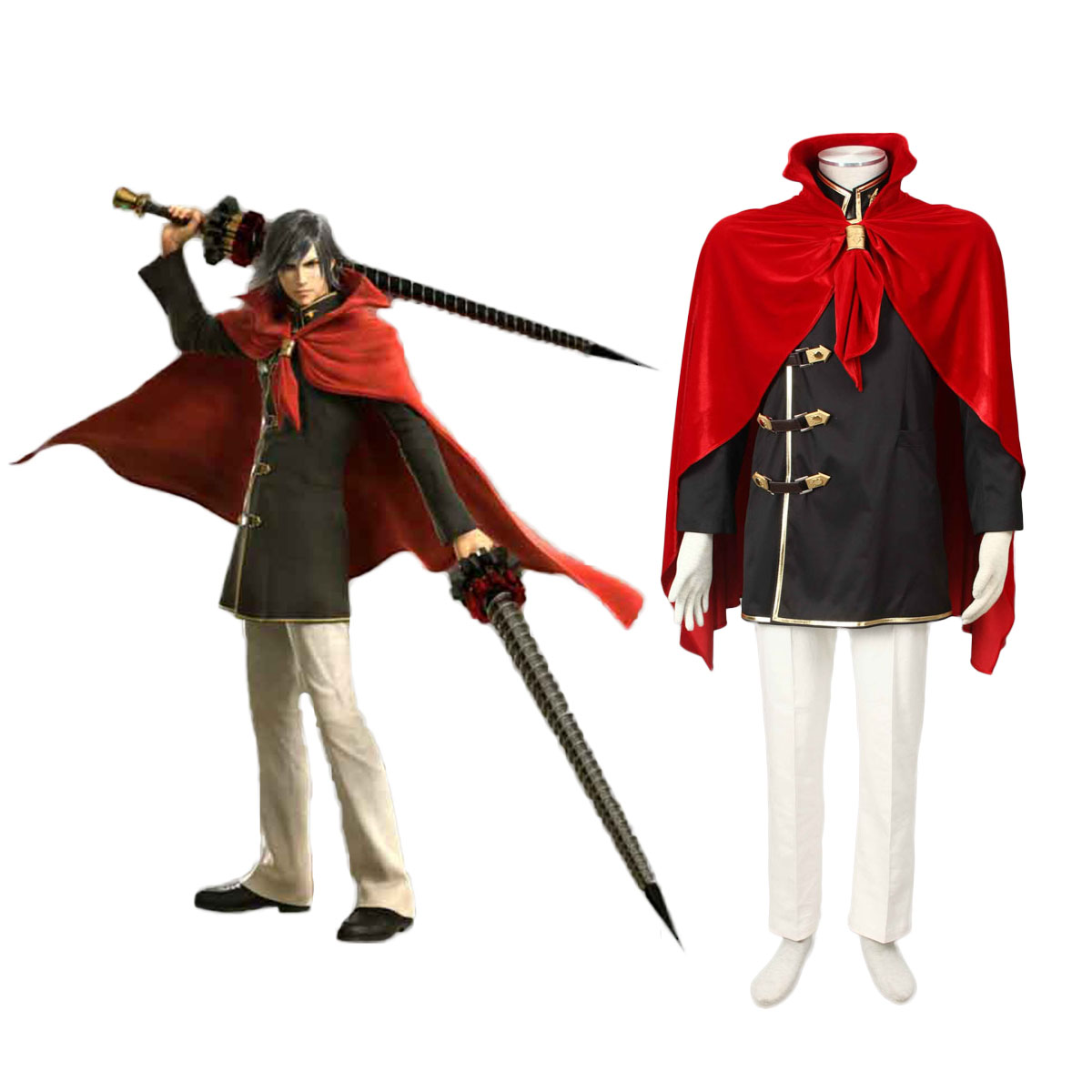 Final Fantasy Type-0 Machina Kunagiri 1 Cosplay Costumes AU