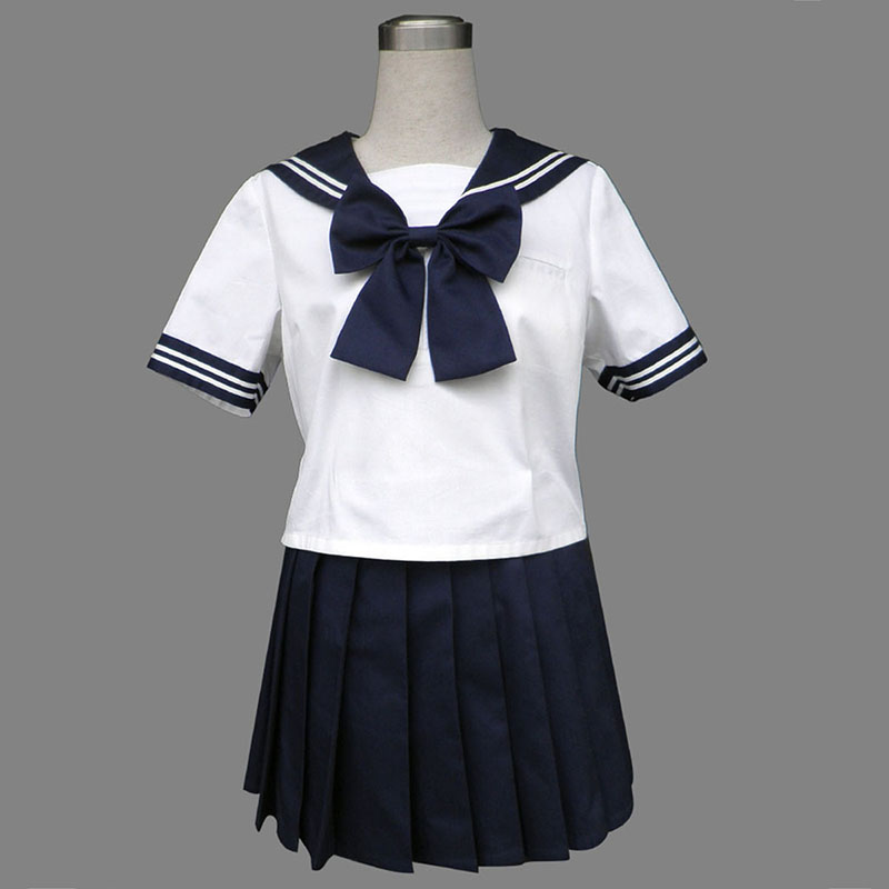 Royal Blue Short Sleeves Sailor Uniform 8 Cosplay Costumes AU