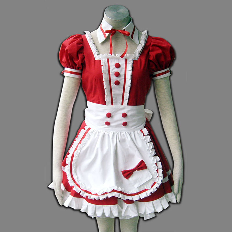 Red Maid Uniform 6 Cosplay Costumes AU