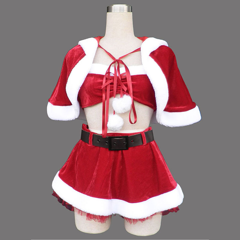 Red Christmas Lady Dress 5 Cosplay Costumes AU