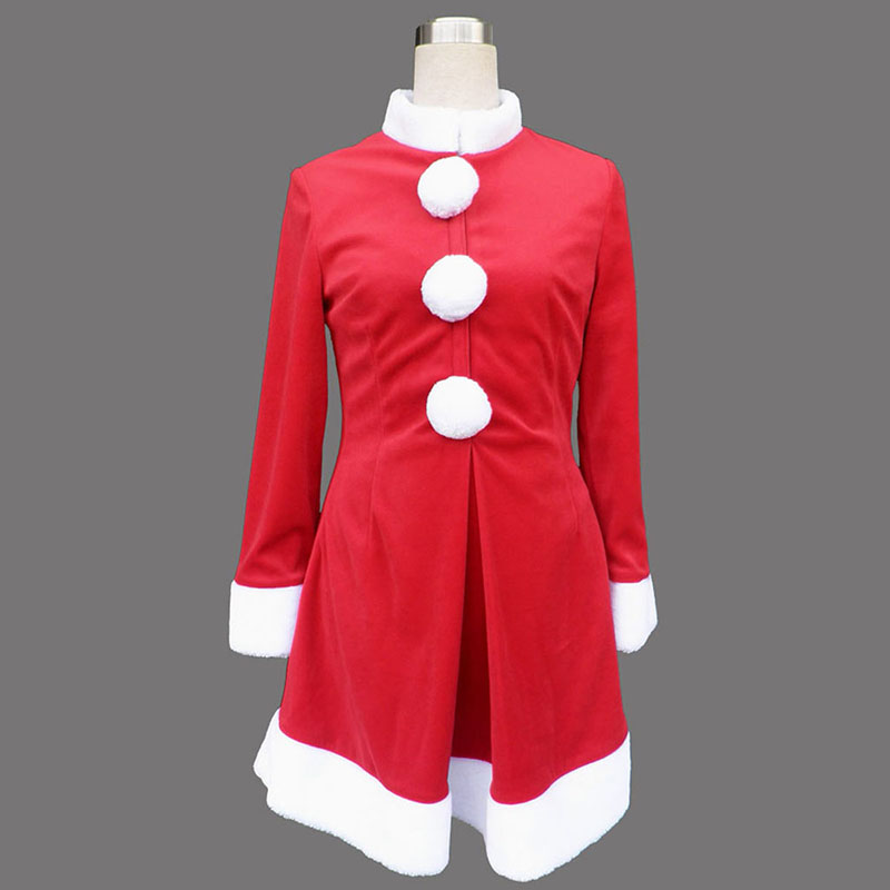 Red Christmas Lady Dress 6 Cosplay Costumes AU