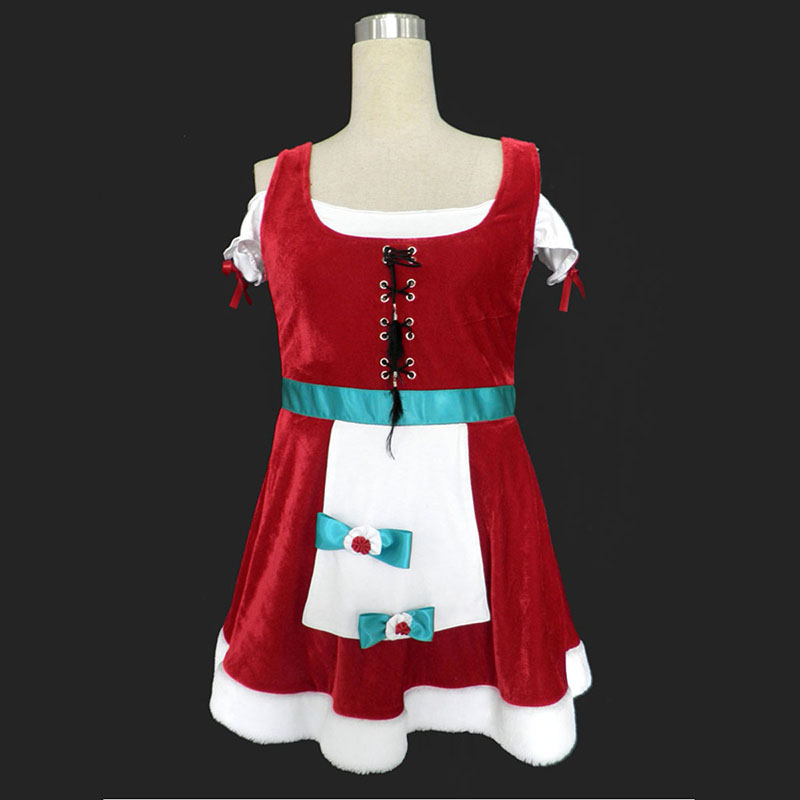 Christmas Lady Dress 8 Cosplay Costumes AU