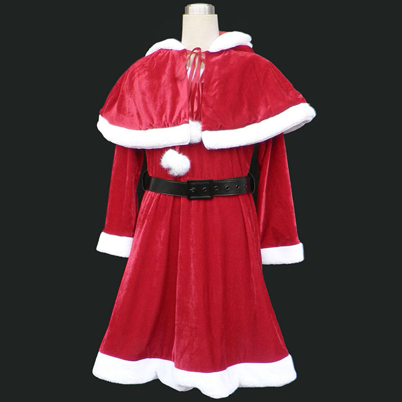 Christmas Lady Dress 9 Red Cosplay Costumes AU