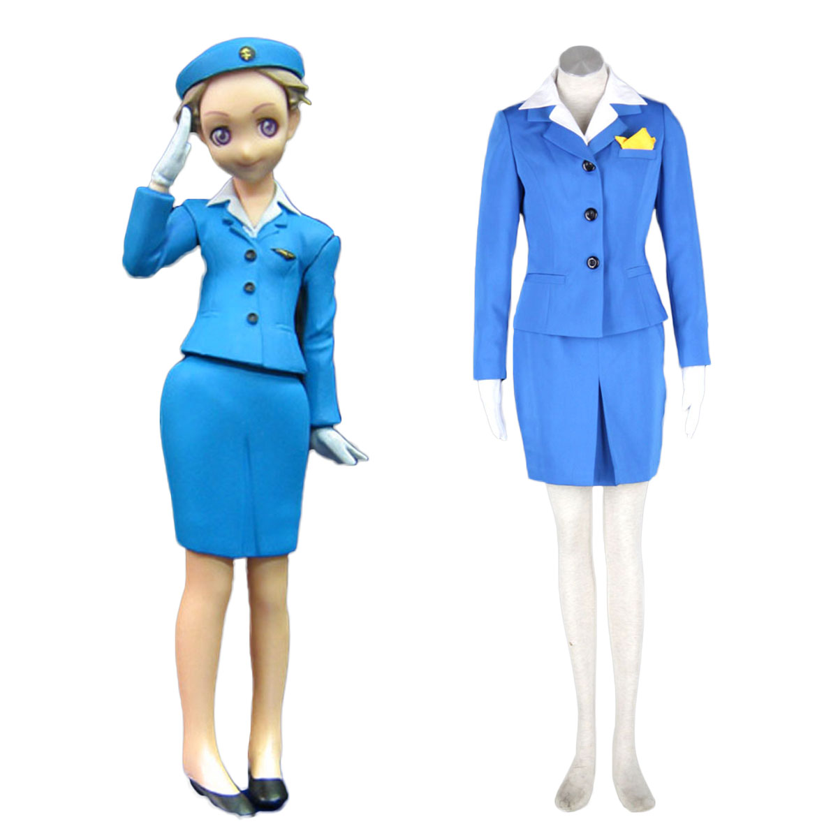 Aviation Uniform Culture Stewardess 1 Cosplay Costumes AU