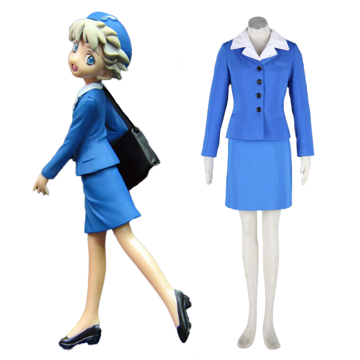 Aviation Uniform Culture Stewardess 2 Cosplay Costumes AU