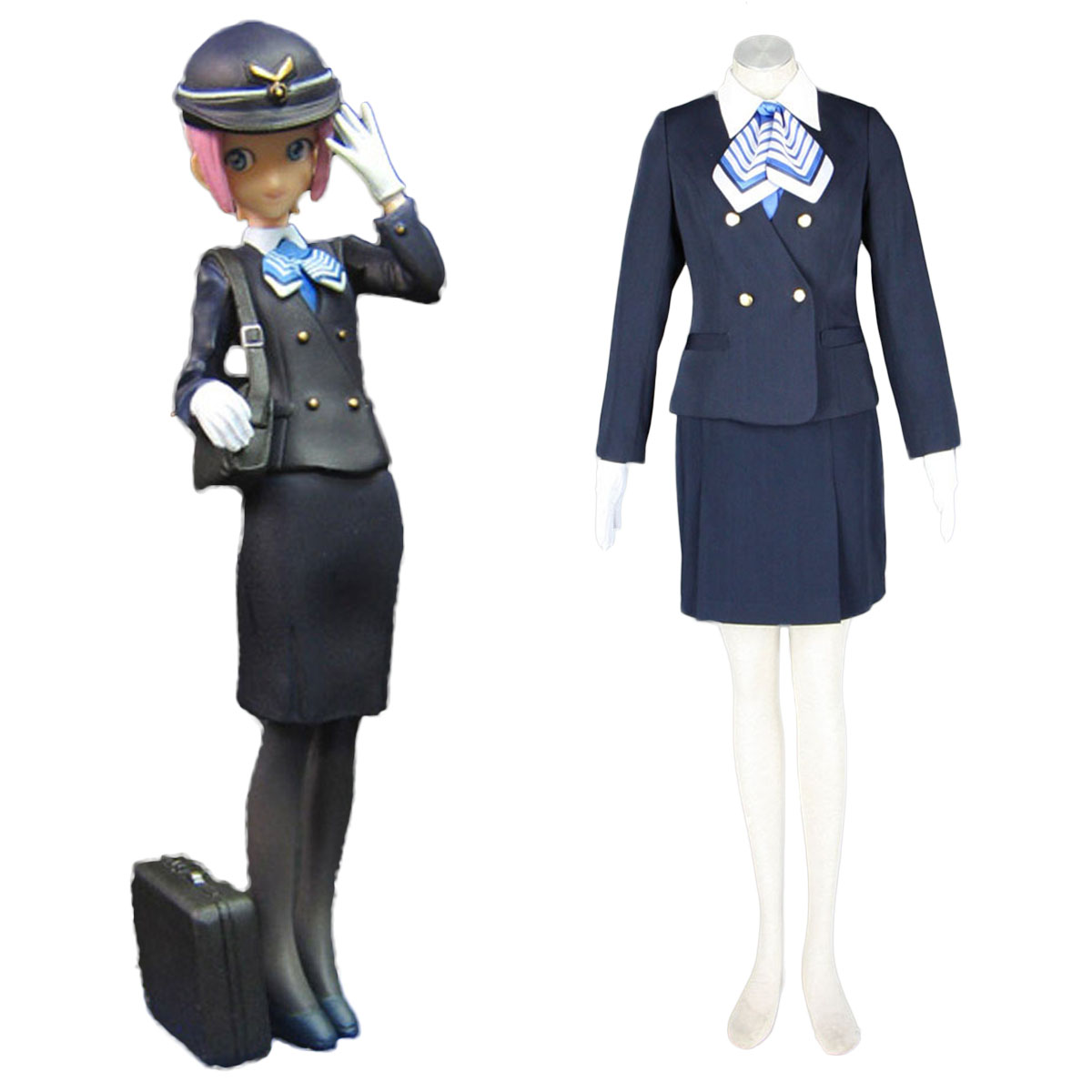Aviation Uniform Culture Stewardess 7 Cosplay Costumes AU