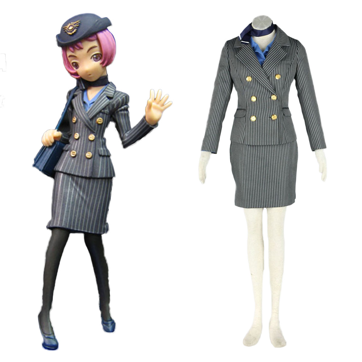 Aviation Uniform Culture Stewardess 8 Cosplay Costumes AU