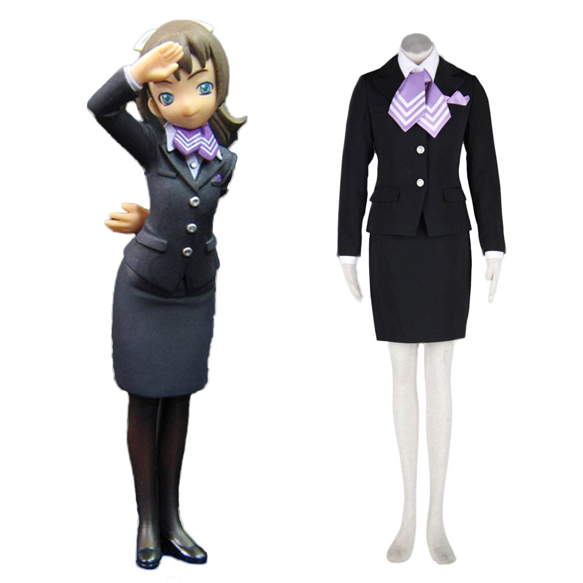 Aviation Uniform Culture Stewardess 9 Cosplay Costumes AU