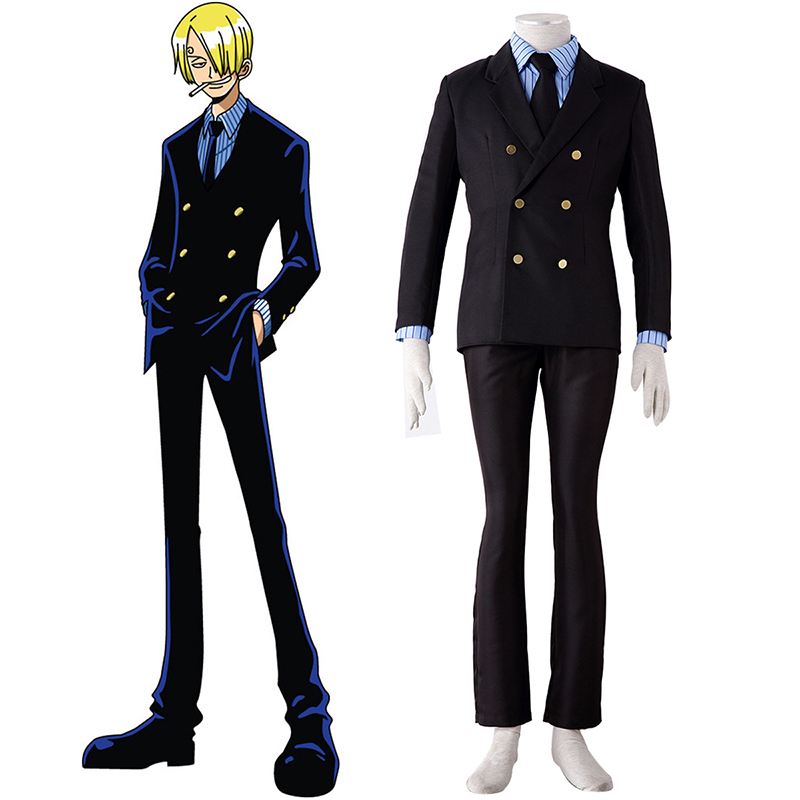 One Piece Sanji 1 Cosplay Costumes AU