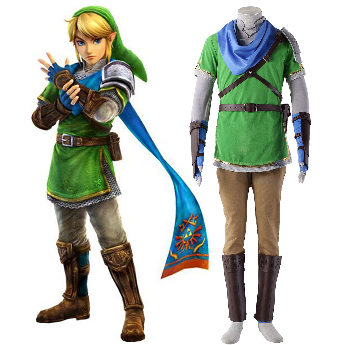 The Legend of Zelda Hyrule-Warriors Link 5 Cosplay Costumes AU
