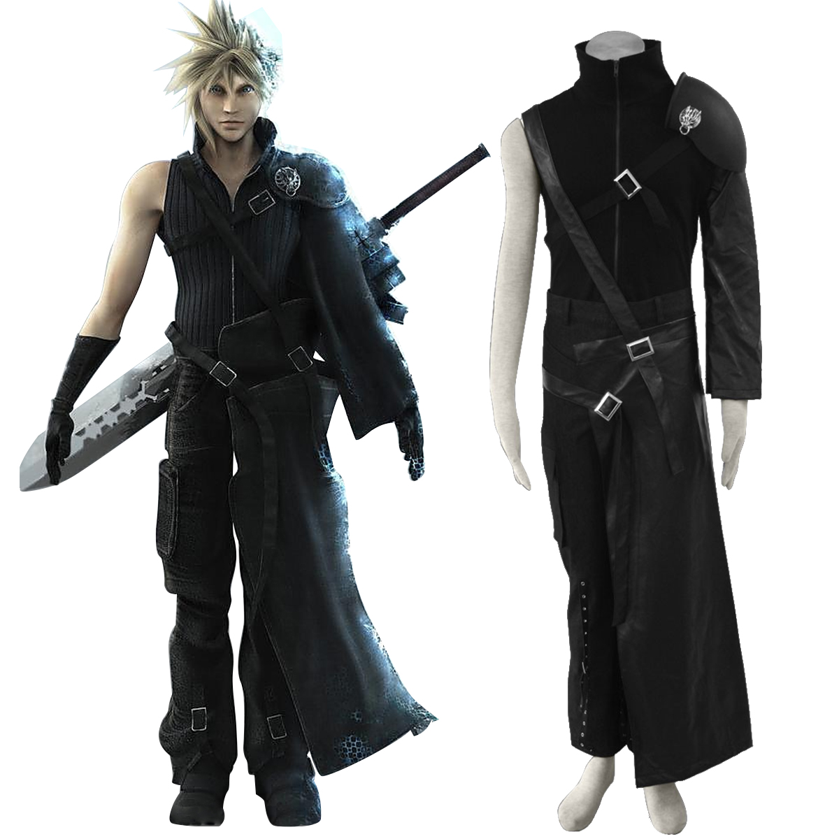 Final Fantasy VII Cloud Strife Cosplay Costumes AU
