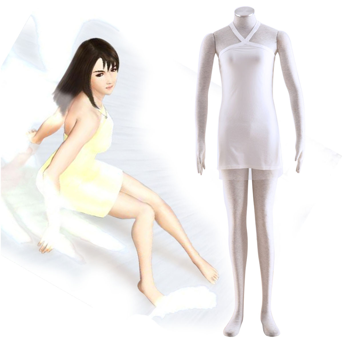 Final Fantasy VIII Rinoa Heartilly 2 Cosplay Costumes AU
