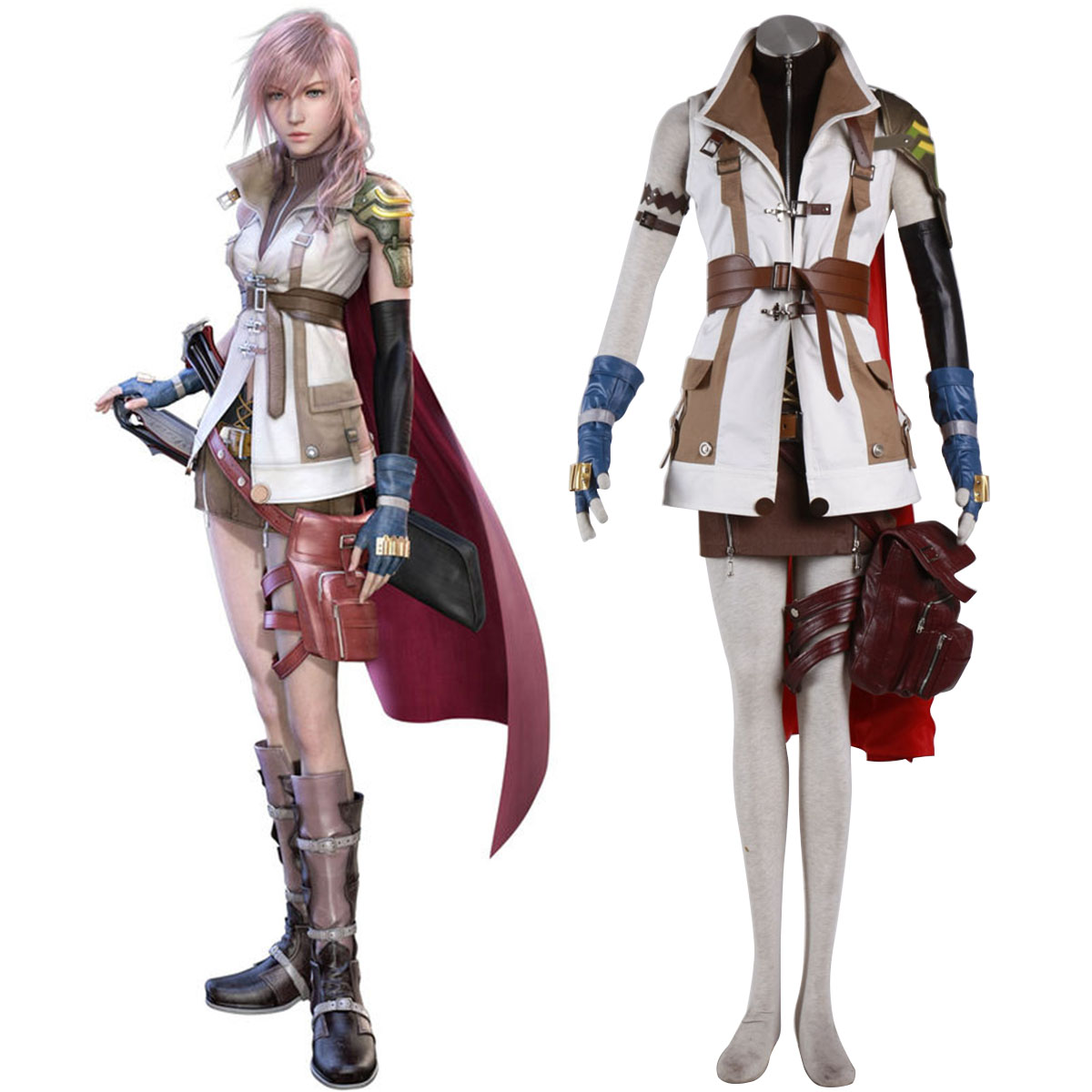 Final Fantasy XIII Lightning 1 Cosplay Costumes AU