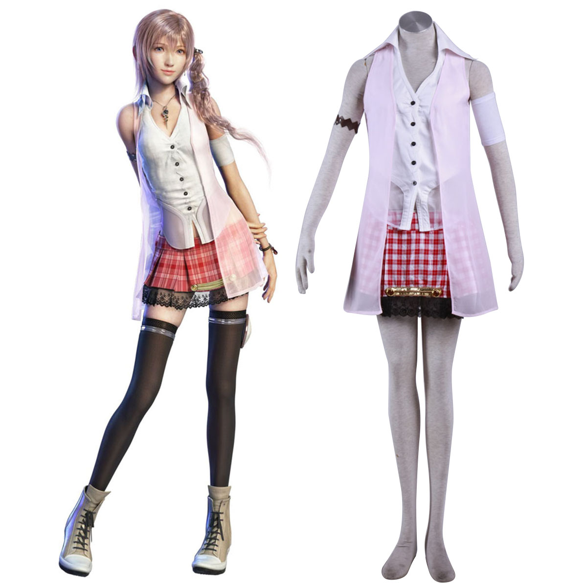 Final Fantasy XIII Serah Farron 1 Cosplay Costumes AU