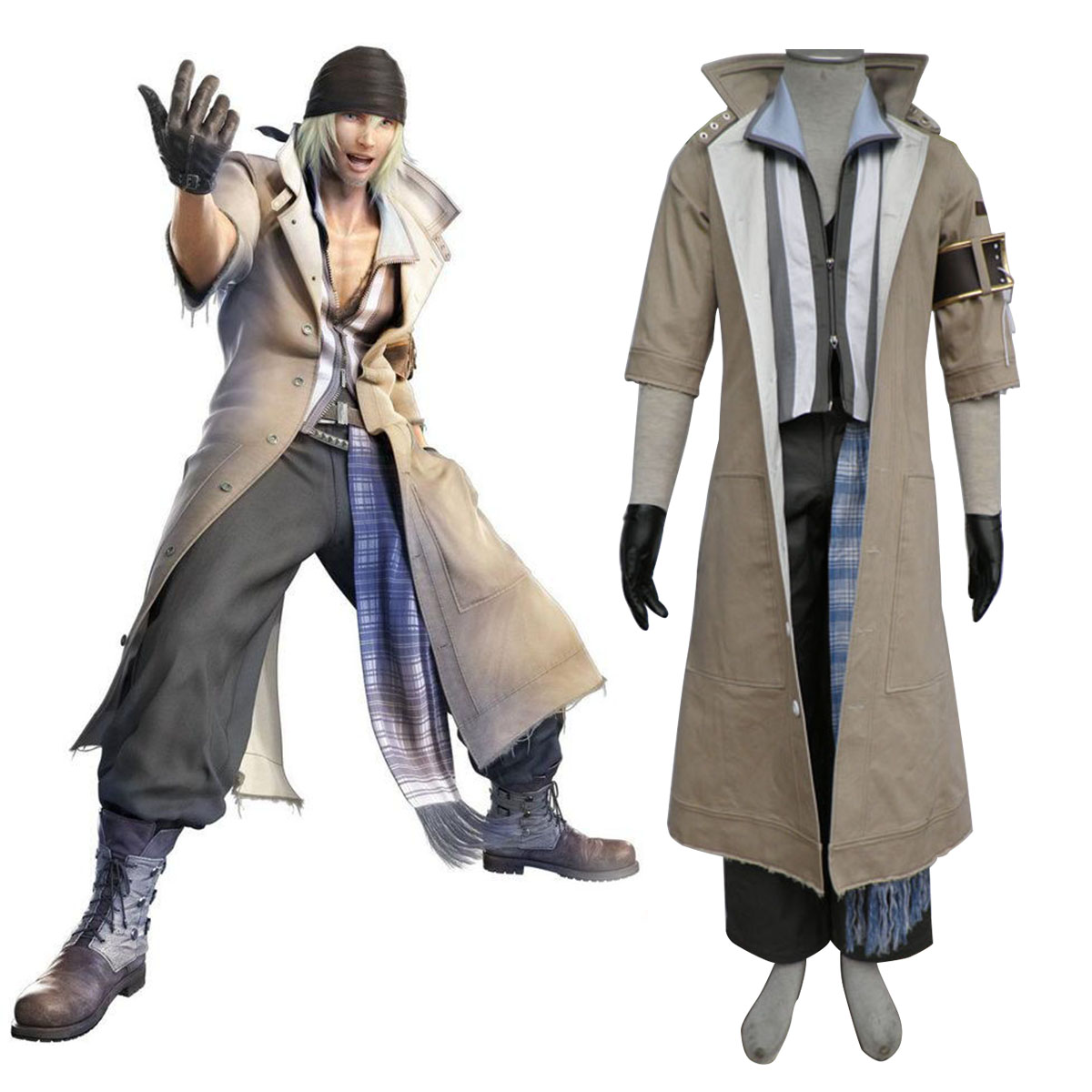 Final Fantasy XIII Snow Villiers 1 Cosplay Costumes AU